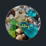 """Beach Wedding favors Blue Green Sea Glass Jelly Belly Tin<br><div class=""""desc"""">Beach Wedding favors Blue Green Sea Glass Weddings Bridal PARTY FAVORS Personalized gifts Seaglass, Jelly Belly candy tins Coastal Beach Sea Glass Shells Mint candy tins, Wedding Favors, Birthday Party Favors, Agates Rocks Fossils Shells, Blue SEAGLASS Designer custom event favors promotional candy. Thanks to all of You for Liking and...</div>"""