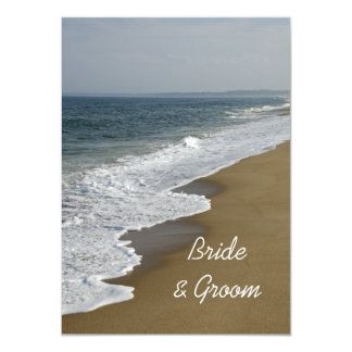 Beach Wedding Flat Note Cards Personalized Invitations