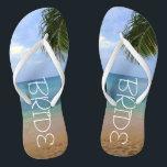 """Beach Wedding   Flip Flops<br><div class=""""desc"""">Beach Wedding   Flip Flops   Bride Name  Ocean</div>"""