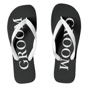 1e1089931 Beach Wedding Flip Flops for Bride and Groom