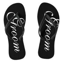 Beach wedding flip flops for groom and bride