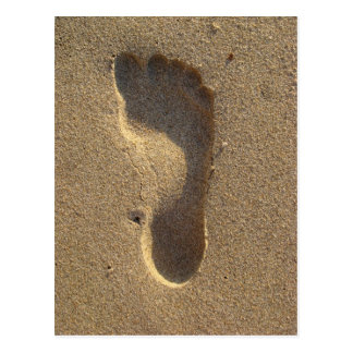 Beach Wedding Footprint in the sand Postcard