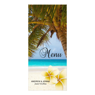 Beach Wedding for the Mr & Mrs | Personalize Rack Card