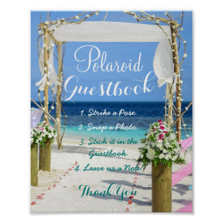 Beach Wedding Gate Guestbook Sign