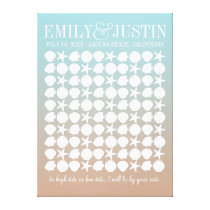 Beach Wedding Guestbook Custom Wrapped Canvas