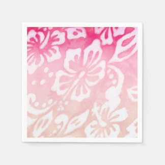 Beach Wedding Hibiscus Flower Luau Party Love Paper Napkins