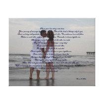 "Beach Wedding ""I Do"" Canvas Print"