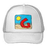 Beach Wedding Ideas Letter G Hats