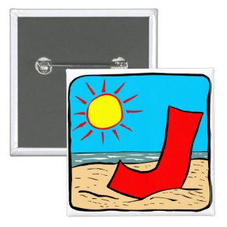 Beach Wedding Ideas Letter J Button