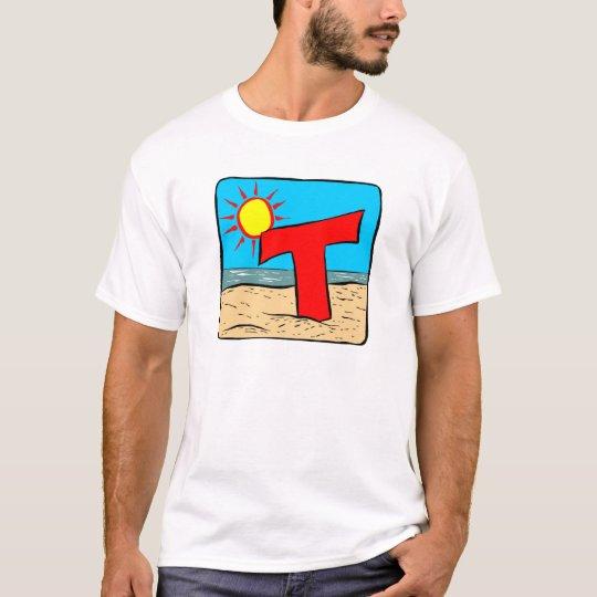 Beach Wedding Ideas Letter T T-Shirt