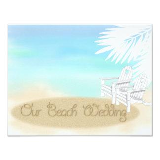 Beach Wedding 4.25x5.5 Paper Invitation Card