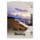 Beach Wedding Invitation Greeting Cards