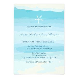 Beach Wedding Invitation ı Beach & Starfish