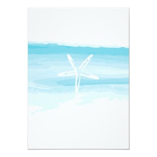 Beach Wedding Invitation ı Starfish & Sea
