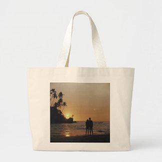 Beach Wedding Invitation Large Tote Bag