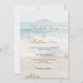 Beach Wedding Invitation Seaside/Oceanside Wedding