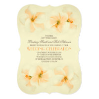 Beach wedding invitation with hibiscus