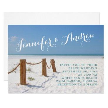 Beach Themed Beach Wedding Invitations