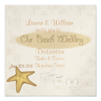BEACH Wedding Invitations FOR ALL Destinations