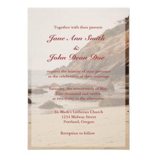 Beach Wedding Invitations - Rocky Beach