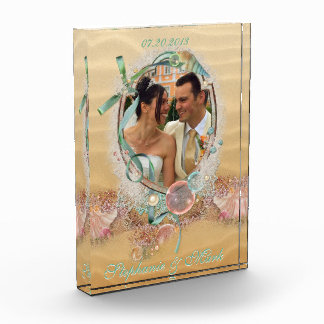 Beach Wedding Keepsake Photo Plaque Acrylic Award