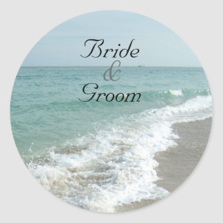 Beach Wedding Matching Envelope Seal Stickers