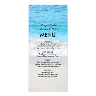 Beach wedding menu beach1 full color rack card