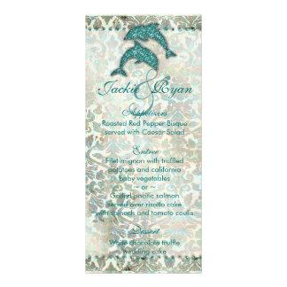 Beach Wedding Menu Cards Dolphin Full Color Rack Card
