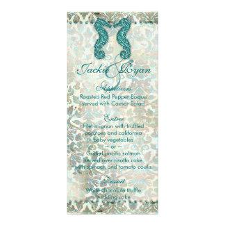 Beach Wedding Menu Cards Seahorse Custom Rack Card