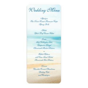 Beach Wedding Menu Custom Invitations 4