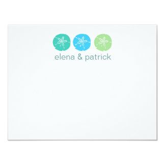 Beach Wedding Note Cards Personalized Invitation