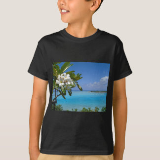Beach Wedding Ocean Tahiti Flowers T-Shirt