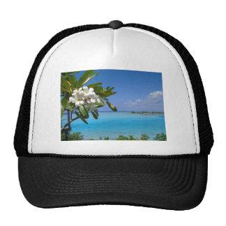 Beach Wedding Ocean Tahiti Flowers Trucker Hat