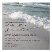Beach Wedding Ocean Waves & Sand Invites