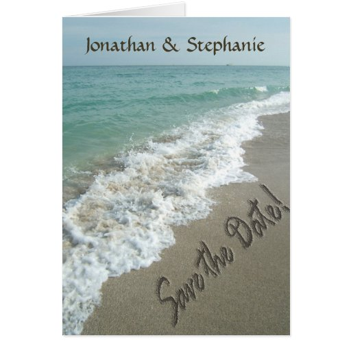 Beach Wedding or Destination Save the Date Cards