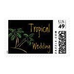 Beach Wedding Palm Trees Postage