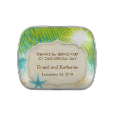 Beach Wedding Party Favor Jelly Belly Tin at Zazzle