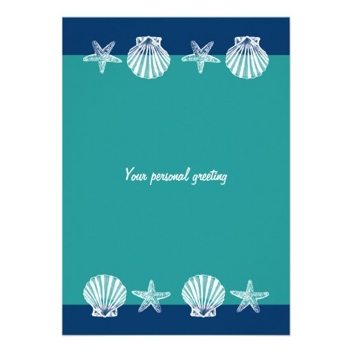 Beach wedding party invitations template 5 quot x 7 quot invitation card