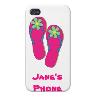 Beach Wedding Phone Cases: Flip Flop Design iPhone 4 Covers