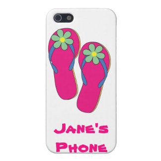 Beach Wedding Phone Cases: Flip Flop Design iPhone SE/5/5s Case