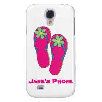 Beach Wedding Phone Cases: Flip Flop Design Samsung Galaxy S4 Cover