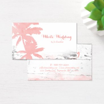 Beach Themed Beach Wedding Planner Tanning Coral Palm Trees Business Card