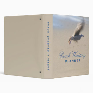 Beach Wedding Planner Vinyl Binders