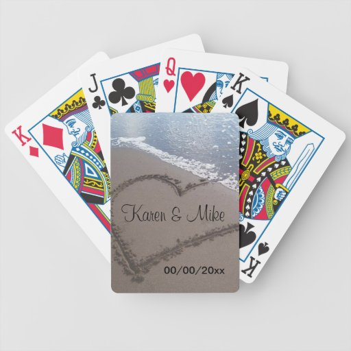 Beach Wedding Bicycle Card Decks
