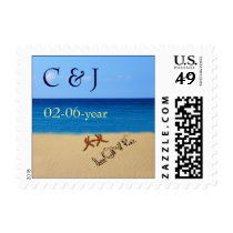 beach wedding Postage