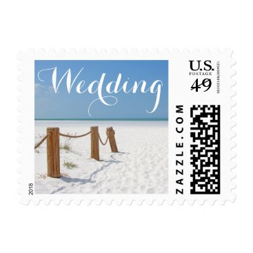 Beach Themed Beach Wedding Postage