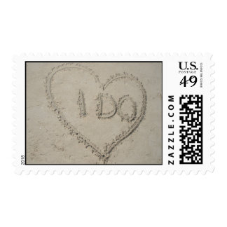 beach wedding postage : I DO!