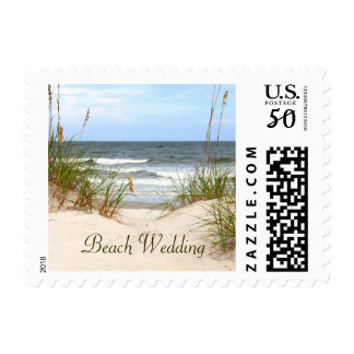 Beach Wedding Postage Stamps