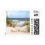 Beach Wedding Postage Stamps