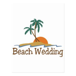 Beach Wedding Postcard